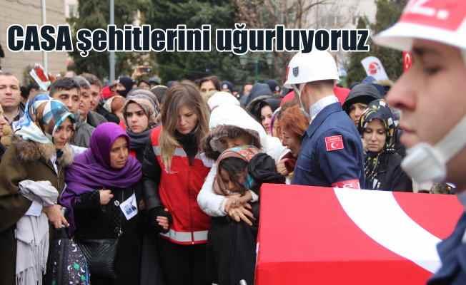 Türkiye CASA şehitlerini uğurluyor: Şehit babaya son bakış