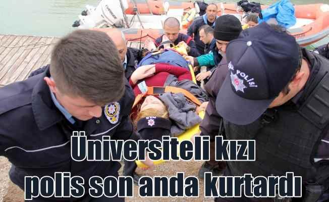 Üniversiteli kızı kurtarmak için polis seferber oldu