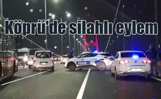 15 Temmuz Şehitler Köprüsü'nde silahla ateş açtı; Derdi başkaymış