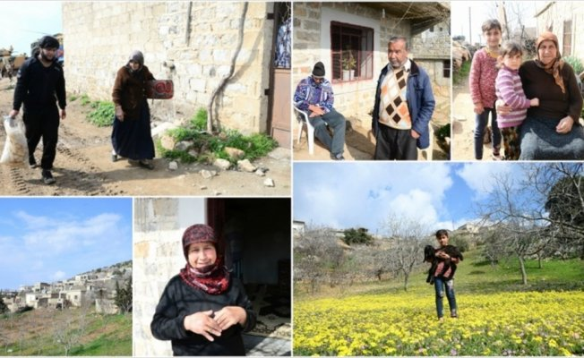 Afrin'de terörden arındırılan köylerde geri dönüş sevinci