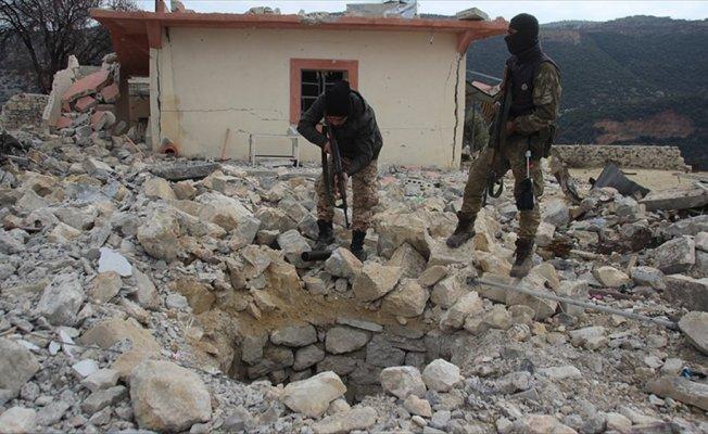 Afrin'de teröristlere ait yeni tüneller ortaya çıkarıldı