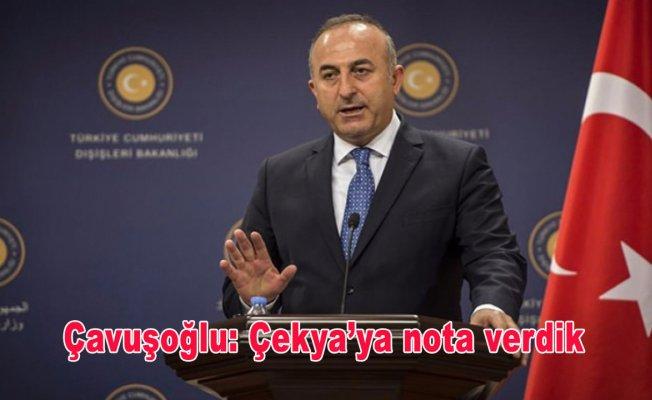 Çavuşoğlu: Çekya'ya nota verdik