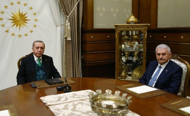 Erdoğan, Binali Yıldırım, Fidan ve Akar'ı ayrı ayrı kabul etti
