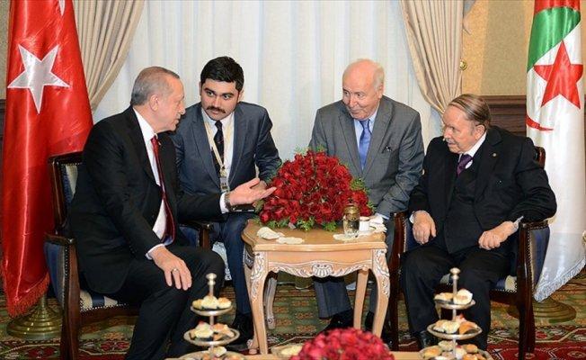 Cumhurbaşkanı Erdoğan, Cezayir Cumhurbaşkanı ile görüştü