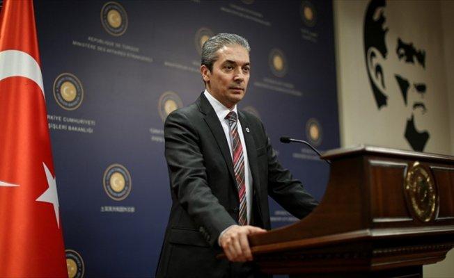 Dışişleri Sözcüsü Aksoy'dan ABD'nin 'Serkan Gölge' açıklamasına tepki