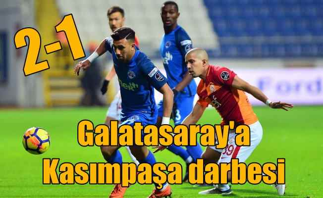 Galatasaray Kasımpaşa'da ağır yara aldı