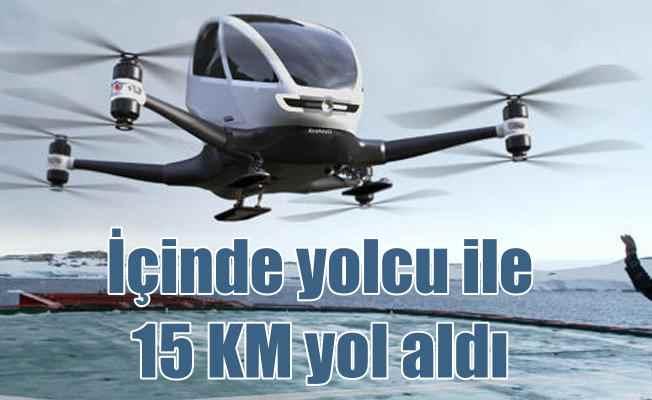 Hava taksi ilk testini geçti: 15 KM uçtu