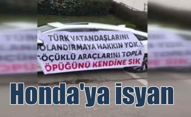 Honda sahipleri yollara döküldü: Göçük isyanı