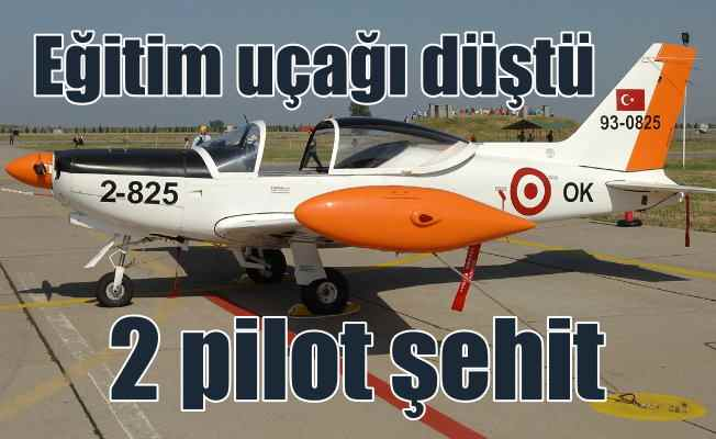 İzmir'de askeri eğitim uçağı düştü; 2 şehit var