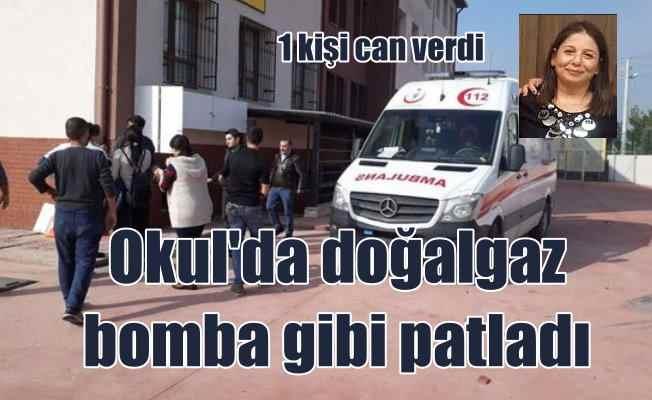 İzmir Gaziemir'de okulda doğalgaz patladı, 1 ölü  var