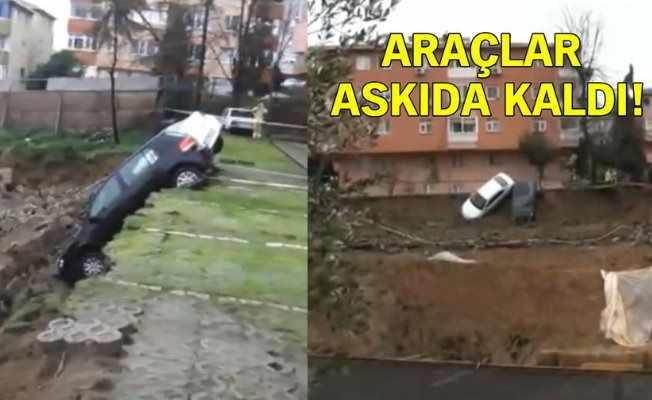 Kadıköy'de faciadan dönüldü: Toprak kaydı evler boşaltıldı...