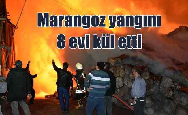 Kastamonu'da yangın; Marangoz atölyesi 8 evi kül etti