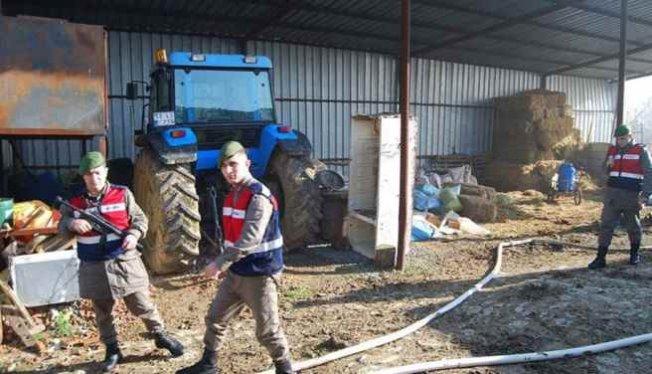MHP Malkara ilçe başkanının çiftliğinde yangın çıktı