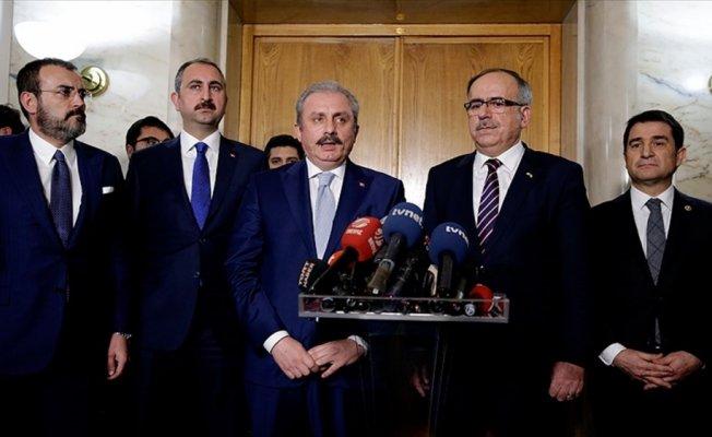 Milli Mutabakat Komisyonu üyeleri Erdoğan'a sunum yaptı