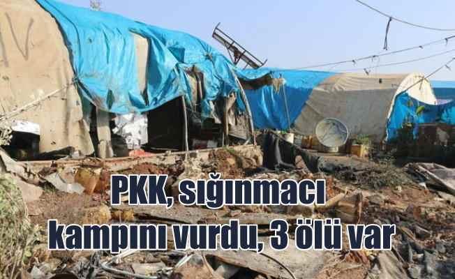 PKK'lı teröristler İdlip'de sığınma kampına saldırdı