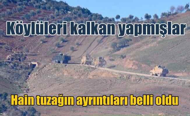 PKK'lı teröristler köylülerin arasına saklanarak saldırmış