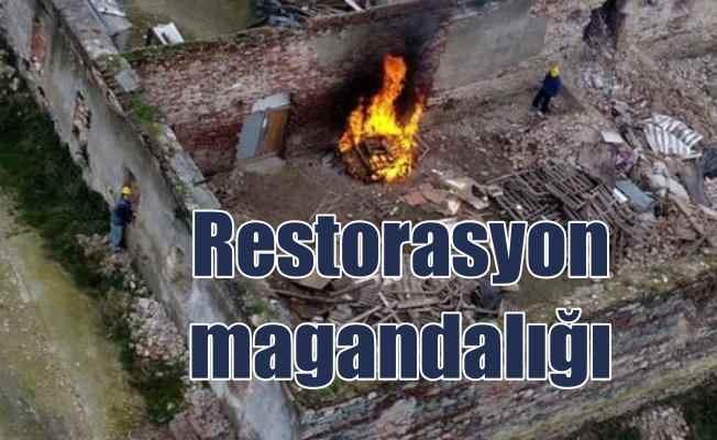 Restarosyon magandalığı: Tarihi yakarak onarıyorlar