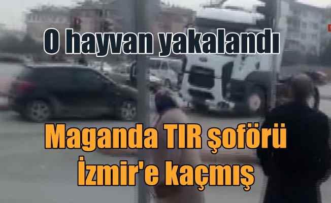 Selektör dehşeti; Araçları ezip kaçan maganda TIR'cı yakalandı