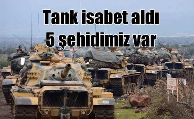 TSK tankına füzeli saldırı; 5 şehit var