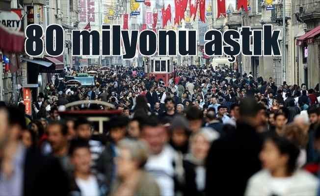 Türkiye'nin 2017 nüfusu açıklandı: 80 milyonu geçtik