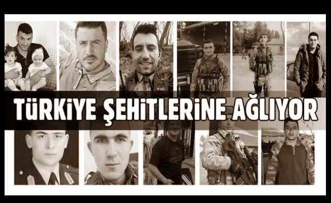 Türkiye şehitlerine ağlıyor: 11 şehit bugün dualarla uğurlanacak