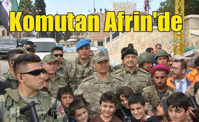 2. Ordu Komutanı Temel Afrin'de çocuklarla kucaklaştı