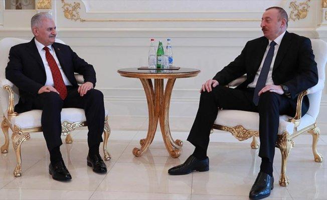 Başbakan Yıldırım, Azerbaycan Cumhurbaşkanı Aliyev ile görüştü