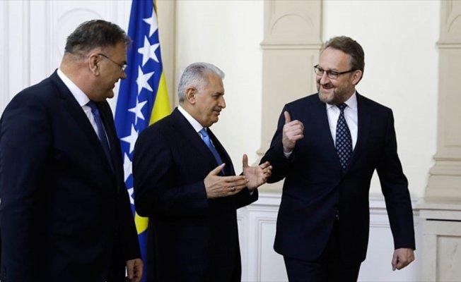 Başbakan Yıldırım, Bakir İzzetbegoviç ile görüştü