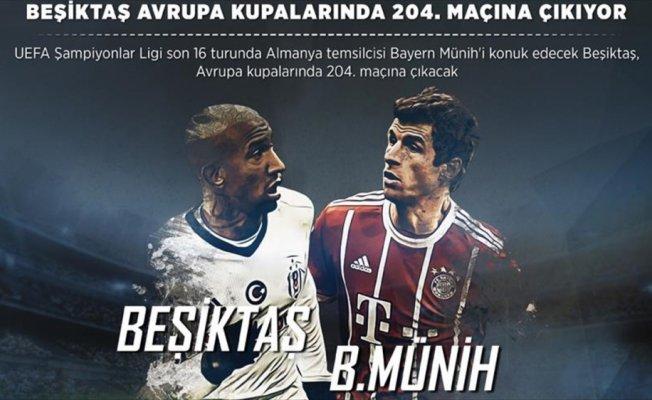 Beşiktaş Avrupa kupalarında 204. maçına çıkıyor