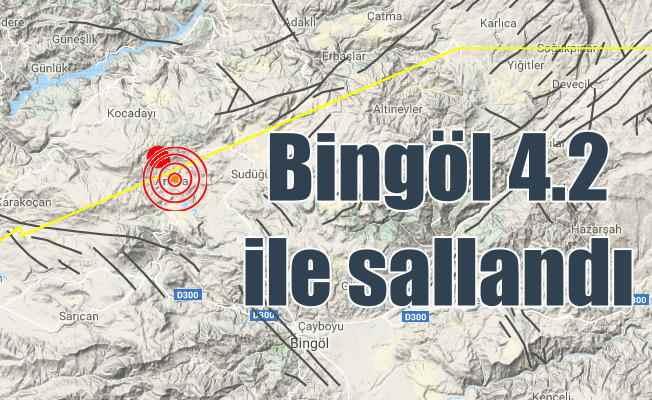 Bingöl'de deprem oldu, Bingöl 4.2 ile sallandı.. Son depremler