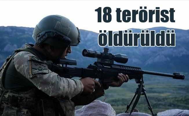 Bir haftada 18 terörist etkisiz hale getirildi