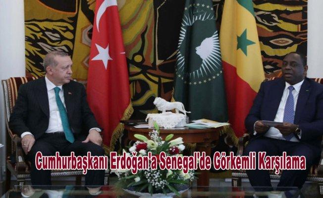 Cumhurbaşkanı Erdoğan'a Senegal'de Görkemli Karşılama