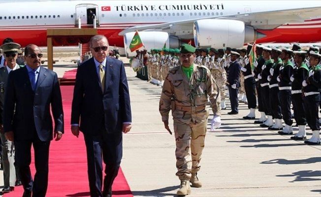 Cumhurbaşkanı Erdoğan Moritanya'ya geldi