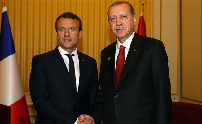 Erdoğan ile Macron Doğu Guta'daki insani dramı görüştü