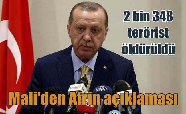 Erdoğan Mali'den açıkladı, 2 bin 348 terörist etkisiz hale getirildi...