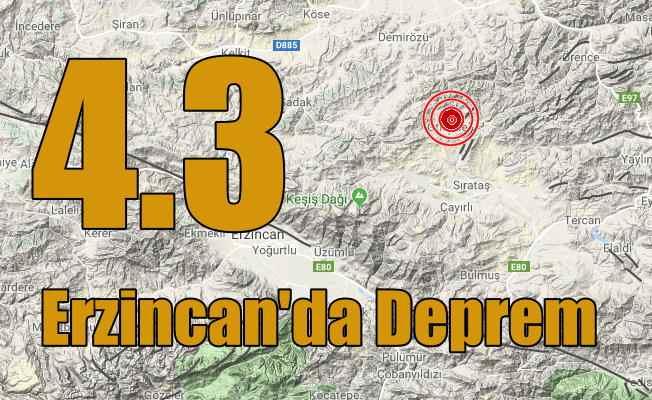 Erzincan'da deprem: Erzincan Otlukbeli'nde deprem oldu