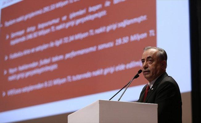 Galatasaray Kulübü Başkanı Mustafa Cengiz: 291 milyon lira nakit akışı sağladık