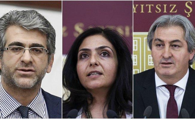HDP'li üç vekil hakkında fezleke düzenlendi
