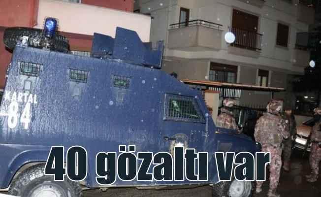İstanbul'da sokak suçlularına şafak baskını; 40 gözaltı var