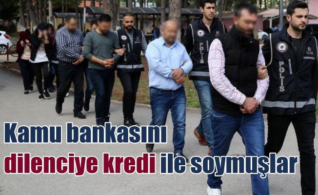 Kamu bankasını 105 dilenci ve hırsızla birlikte dolandırmış