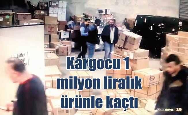 Kargo şoförü 1 milyon liralık ürünle kaçtı
