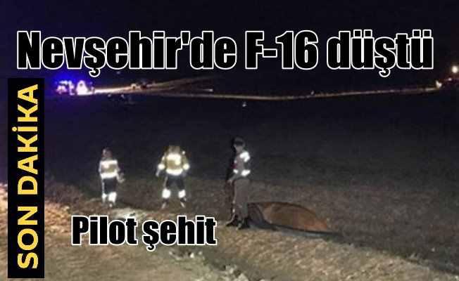 Nevşehir'de askeri uçak düştü,  Pilot şehit oldu