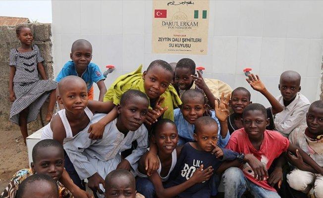 Nijerya'da Zeytin Dalı Harekatı şehitleri için su kuyusu açıldı