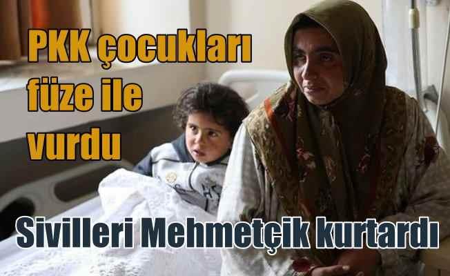 PKK'lı teröristler çocukları tanksavar füzesi ile vurdu