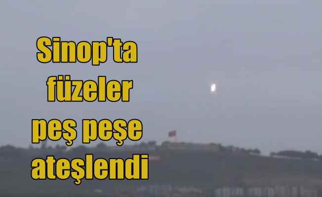 Sinop'ta füze denemeleri merakla izlendi