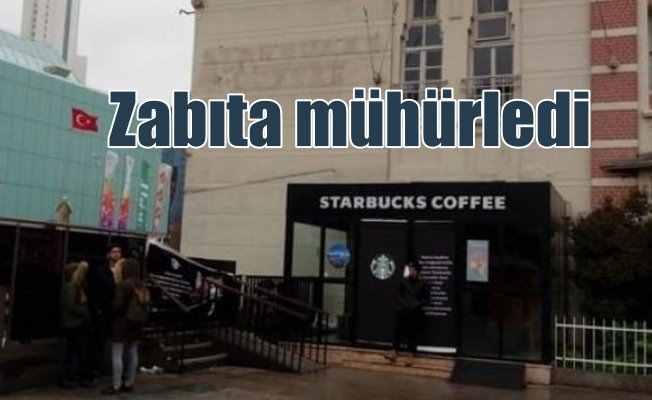 Starbucks'a şok mühür; Cevahir AVM'deki Starbucks'ı zabıta mühürledi