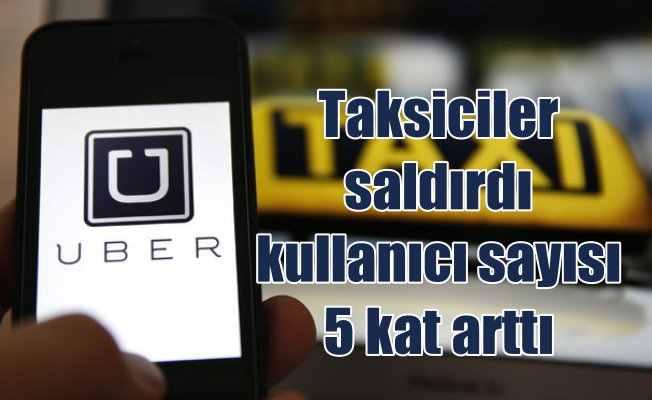 Taksiciler saldırdıkça, UBER kullananların sayısı arttı