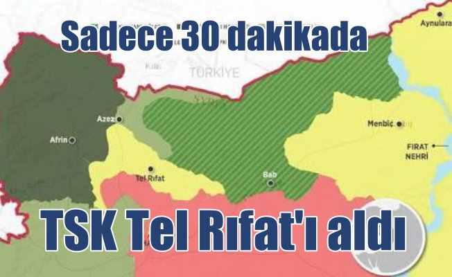 Tel Rıfat'ta denetim TSK'da; Mehmetçik 30 dakikada bitirdi