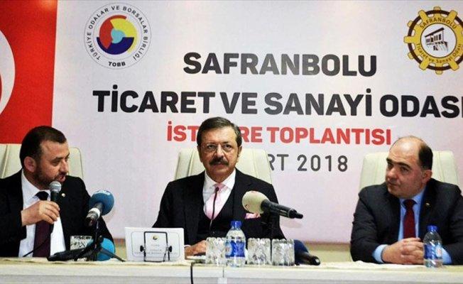 TOBB Başkanı Hisarcıklıoğlu: Hepinizin istisnasız devletten alacağı var