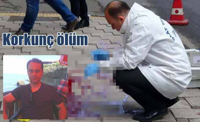 Trabzon'da eski futbolcu'nun feci ölümü: Başına balkondan mermer düştü